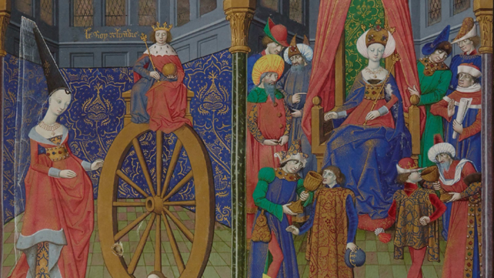 15th Century French painting of a royal court