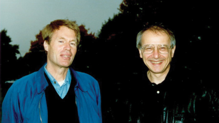Nobel Prize winner Le Clézio with Dr. Laurence Bongie.