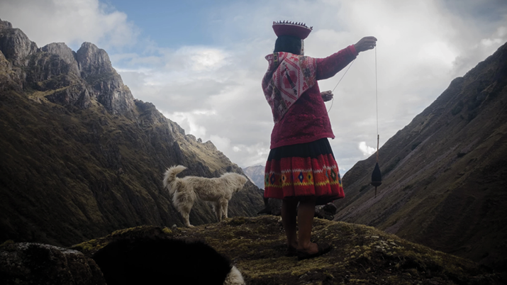 Woman from the Quechua populations in the Andean mountains of Peru.